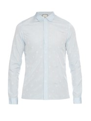 Gucci Cambridge Fit Bee And Star Jacquard Shirt
