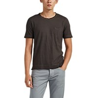 Massimo Alba Panarea Watercolor Dyed Cotton T Shirt Black