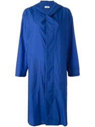 Plantation Buttoned Hooded Coat Blue