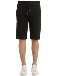 Mcq By Alexander Mcqueen Embroidered Cotton Sweat Shorts Black