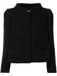 L'autre Chose High Collar Fitted Jacket Black