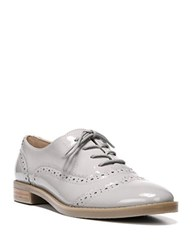 Franco Sarto Imagine Stacked Patent Leather Heel Wingtip Oxfords Silky Grey