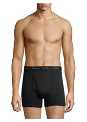 Saks Fifth Avenue Collection Three Pack Boxer Brief Set Navy Grey Heather Light Grey Heather Black