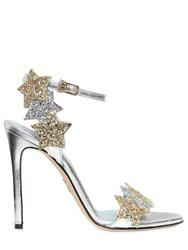 Chiara Ferragni 110Mm Stars Glitter Wrap Around Sandals
