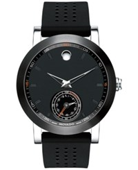 Movado Men's Swiss Museum Sport Motion Black Rubber Strap Watch 44Mm 0660003