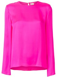 Maison Rabih Kayrouz Classic Fitted Blouse Pink And Purple