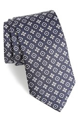 Eton Men's Floral Medallion Silk Tie