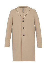 Harris Wharf London Single Breasted Technical Overcoat Camel