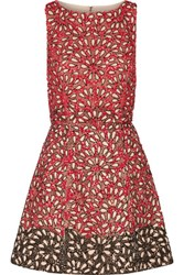 Alice Olivia Carrie Embellished Tulle Mini Dress Red