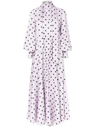 Layeur Pleated Long Dress Pink And Purple