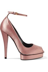 Tom Ford Satin Platform Pumps Pink
