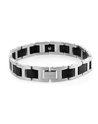 Tateossian Grey And Black Titanium Bracelet Size M
