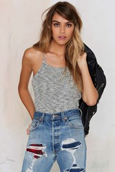 Nasty Gal Sorry Knit Sorry Halter Top