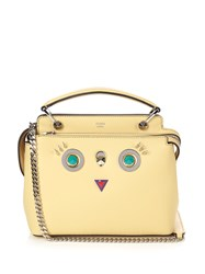 Fendi Dotcom Small Round Eyes Leather Cross Body Bag