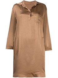 Raquel Allegra Relaxed Shirt Dress Brown