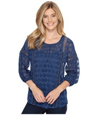 Ariat Ellie Top Navy Women's Clothing