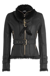 Balmain Leather Biker Jacket Black