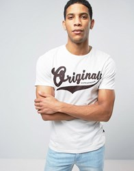 Jack And Jones Originals T Shirt With Animal Print Graphic Cloud Dancer White