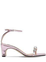 Sergio Rossi 60Mm Lvr Exclusive Leather Sandals Pink