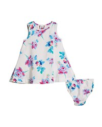 Joules Floral A Line Dress W Matching Bloomers Size 6 24 Months Multi
