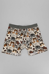 Urban Outfitters Wallpaper Cats Boxer Brief Cream