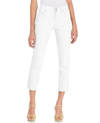 Style And Co. Curvy Fit Capri Pants Bright White