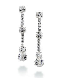 Carolee The Joy Linear Drop Earrings Silver