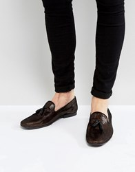 Asos Loafers In Gold And Black Metallic Textile Gold