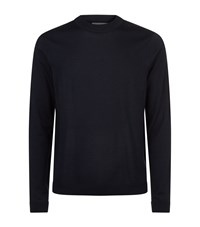 Sandro Wool Sweater Blue