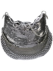 Laura B Mini U Bag Grey