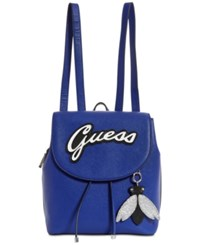 Guess Varsity Pop Pin Up Small Backpack Blue