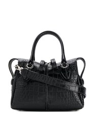 Tod's Crocodile Effect D Styling Tote Bag Black