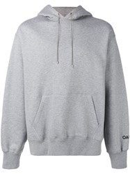 Oamc Back Embroidered Hoodie Grey