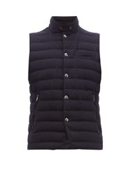Ralph Lauren Purple Label Whitewell Quilted Wool Gilet Navy