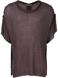 Di Liborio Oversized T Shirt Pink And Purple