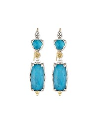 Long Chrysocolla Doublet Earrings Blue Konstantino
