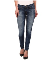 Big Star Alex Midrise Skinny In Mandell Mandell Women's Jeans Blue