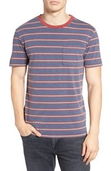 Brixton Men's Stripe Pocket T Shirt Indigo