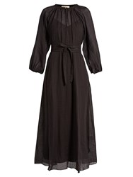 Vanessa Bruno Gara Voile Maxi Dress Black