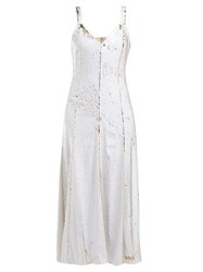 Racil Marylin Sequinned Tulle Midi Dress White Gold