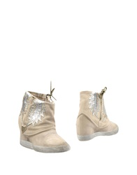 Htc Ankle Boots Beige