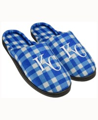 Forever Collectibles Kansas City Royals Flannel Slide Slippers Blue