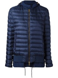 Moncler Layered Padded Jacket Blue