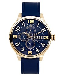 Versus By Versace 50Mm Globe Oversized Chronograph Watch Blue