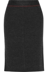 Rag And Bone Andee Merino Wool Skirt Charcoal