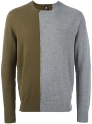 Paul Smith Ps By Colour Block Jumper Grey