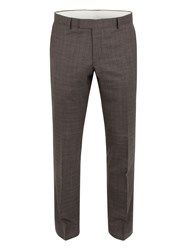 Racing Green Hague Heritage Check Suit Trouser Brown