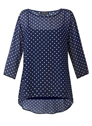 Grace Made In Britain Print Tunic Navy