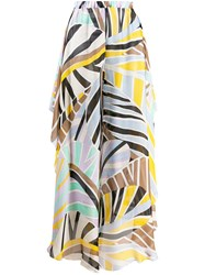 Emilio Pucci Leaf Print Long Skirt 60