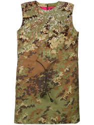 Dsquared2 Sequin Camouflage Mini Dress Women Polyamide Polyester Plastic 38 Green